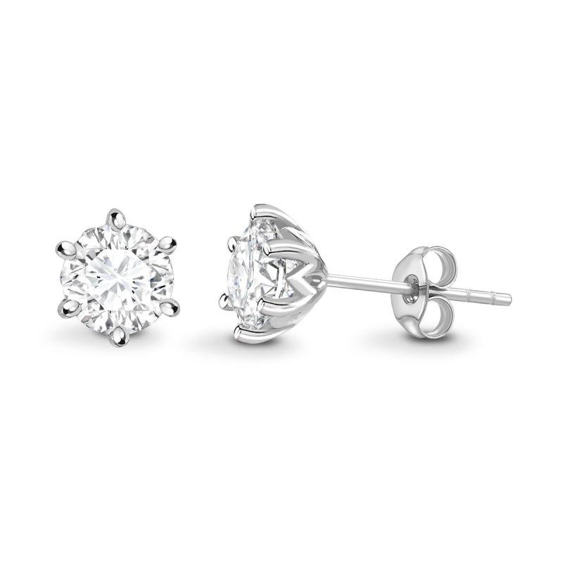 örhängen med diamanter